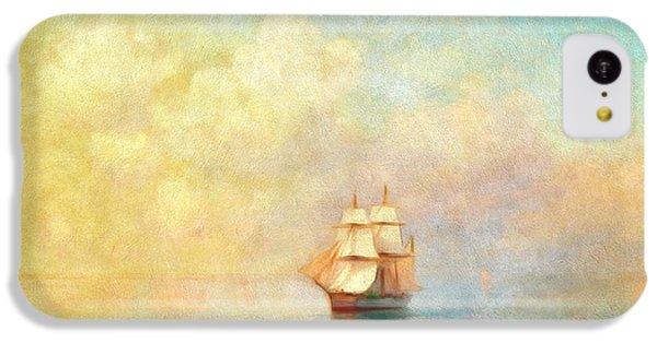 Boat iPhone 5c Case - Sunrise On The Sea by Georgiana Romanovna