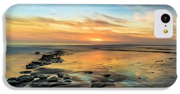 Ocean Sunset iPhone 5c Case - Sunset At Swamis Beach by Larry Marshall
