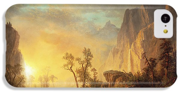 Sunset iPhone 5c Case - Sunset In The Rockies by Albert Bierstadt