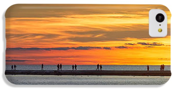 IPhone 5c Case featuring the photograph Sunset Over Ludington Panoramic by Adam Romanowicz
