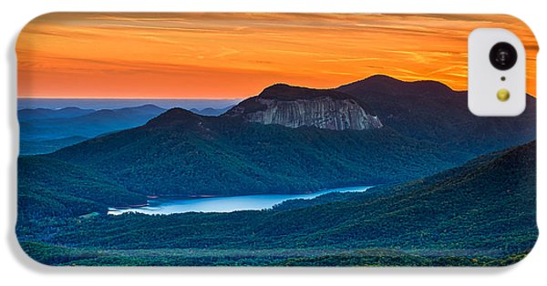 Sunset Over Table Rock From Caesars Head State Park South Carolina IPhone 5c Case by T Lowry Wilson
