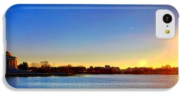 Sunset Over The Jefferson Memorial  IPhone 5c Case by Olivier Le Queinec