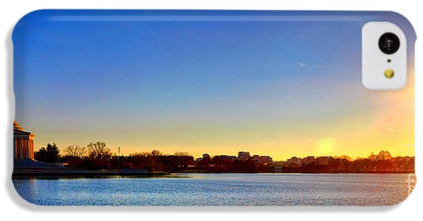 Jefferson Memorial iPhone 5c Case - Sunset Over The Jefferson Memorial  by Olivier Le Queinec