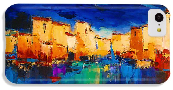 Sunset iPhone 5c Case - Sunset Over The Village by Elise Palmigiani