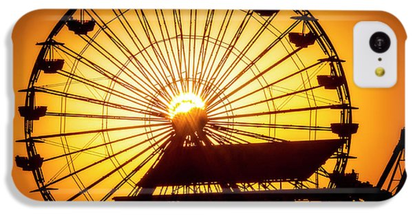 Venice Beach iPhone 5c Case - Sunset Through Ferris Wheel by Garry Gay