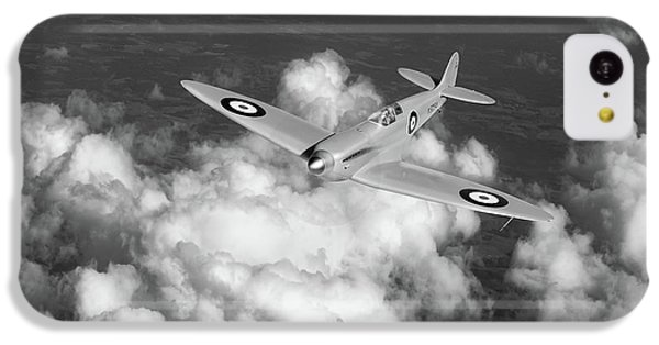 IPhone 5c Case featuring the photograph Supermarine Spitfire Prototype K5054 Black And White Version by Gary Eason