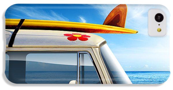 Transportation iPhone 5c Case - Surf Van by Carlos Caetano