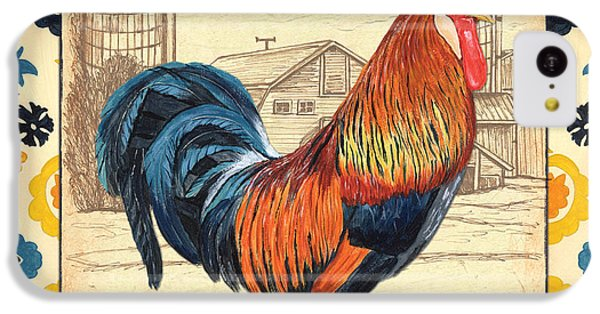 Rooster iPhone 5c Case - Suzani Rooster 2 by Debbie DeWitt