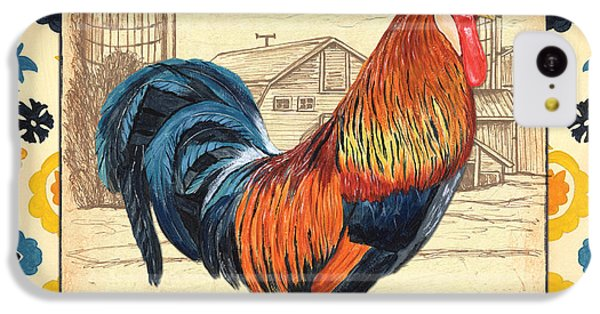 Suzani Rooster 2 IPhone 5c Case by Debbie DeWitt