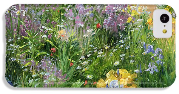 Sweet Rocket - Foxgloves And Irises IPhone 5c Case by Timothy Easton