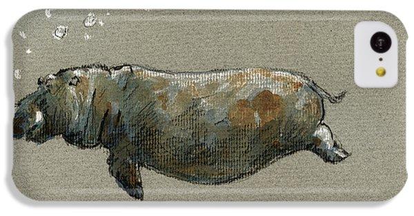 Swimming Hippo IPhone 5c Case