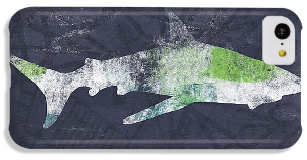 Hammerhead Shark iPhone 5c Case - Swimming With Sharks 3- Art By Linda Woods by Linda Woods