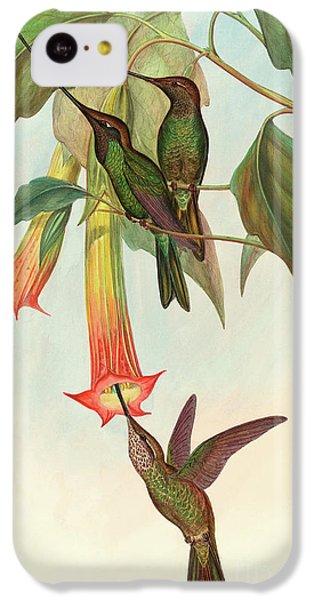 Humming Bird iPhone 5c Case - Sword Billed Hummingbird by John Gould