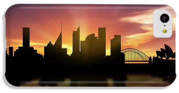 Sydney Skyline Sunset Ausy22 IPhone 5c Case by Aged Pixel