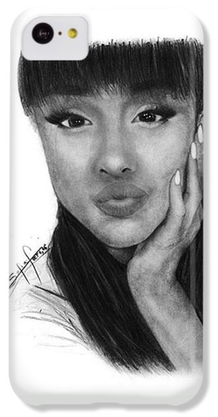 iPhone 5c Case - Ariana Grande Drawing By Sofia Furniel by Jul V