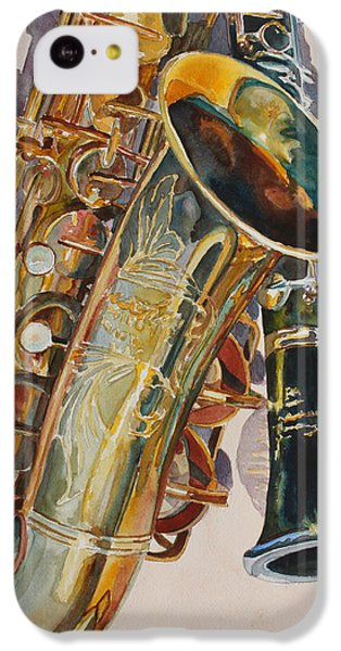 Saxophone iPhone 5c Case - Taking A Shine To Each Other by Jenny Armitage