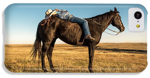 Horse iPhone 5c Case - Taking A Snooze by Todd Klassy