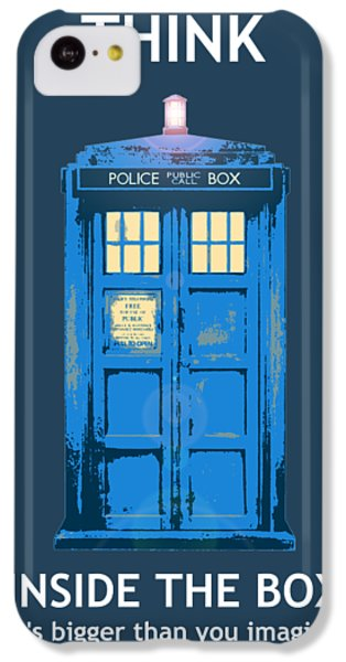 Doctor iPhone 5c Case - Tardis - Think Inside The Box by Richard Reeve