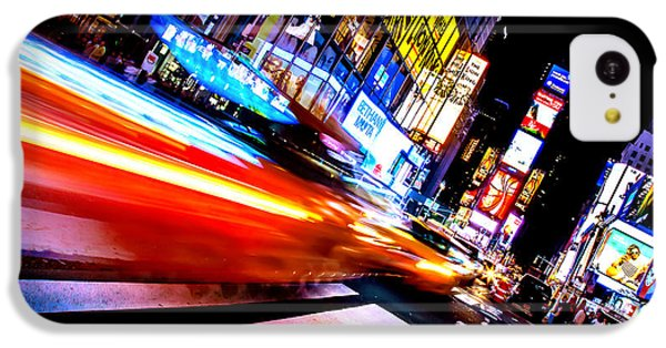 Taxis In Times Square IPhone 5c Case by Az Jackson
