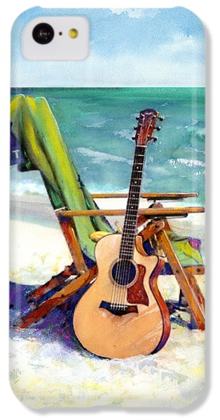 Guitar iPhone 5c Case - Taylor At The Beach by Andrew King