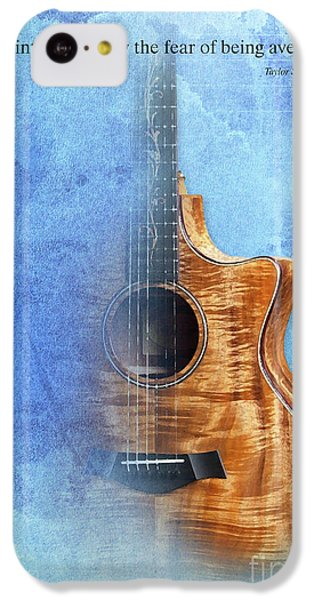 Taylor Inspirational Quote, Acoustic Guitar Original Abstract Art IPhone 5c Case by Pablo Franchi