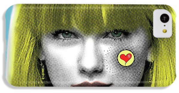 Taylor Swift, Pop Art, Portrait, Contemporary Art On Canvas, Famous Celebrities IPhone 5c Case by Dr Eight Love