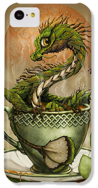 Dragon iPhone 5c Case - Tea Dragon by Stanley Morrison