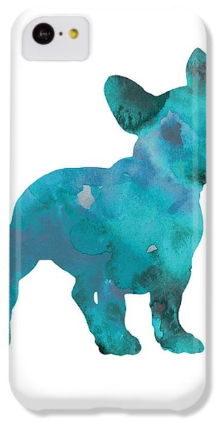 Teal Frenchie Abstract Painting IPhone 5c Case