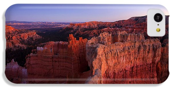 Desert iPhone 5c Case - Temple Of The Setting Sun by Mike  Dawson