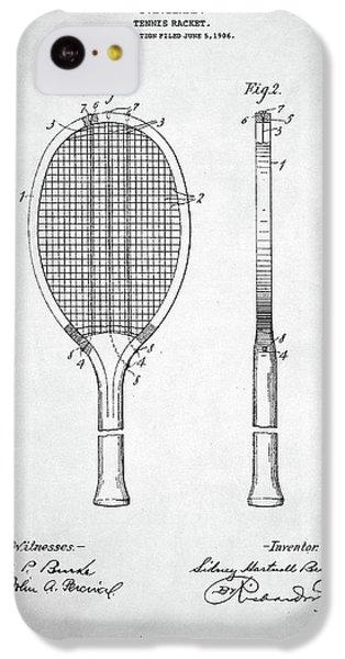 Tennis Racket Patent 1907 IPhone 5c Case