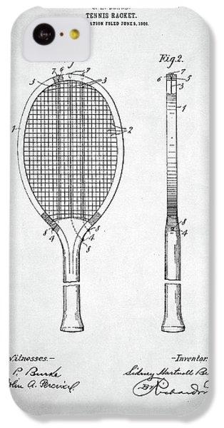 Tennis Racket Patent 1907 IPhone 5c Case by Taylan Apukovska