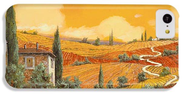 Sunflower iPhone 5c Case - terra di Siena by Guido Borelli