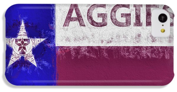 Texas Aggies State Flag IPhone 5c Case by JC Findley