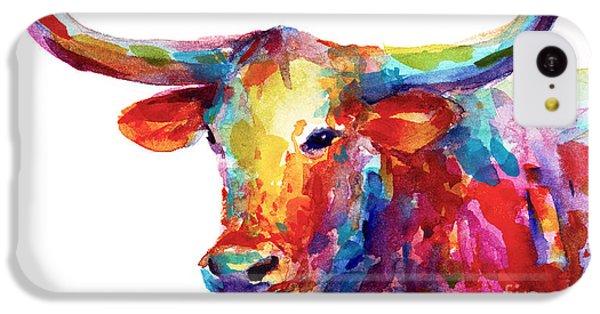 Texas Longhorn Art IPhone 5c Case