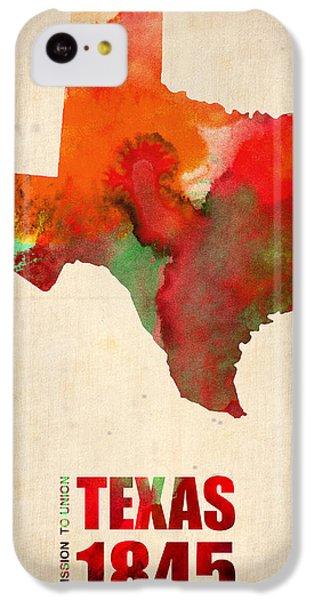 Texas Watercolor Map IPhone 5c Case by Naxart Studio