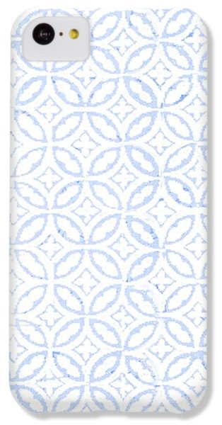 Textured Blue Diamond And Oval Pattern IPhone 5c Case
