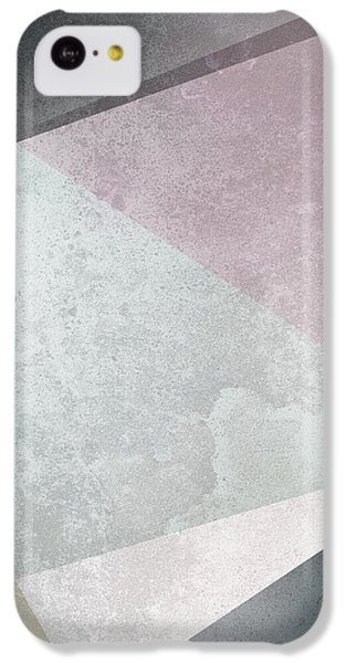 Rose iPhone 5c Case - Textured Geometric Triangles by Pati Photography