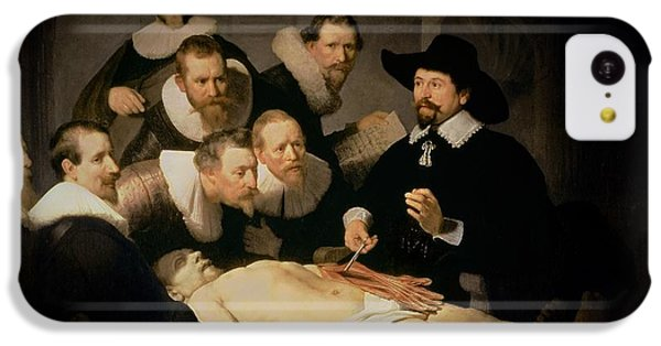 Doctor iPhone 5c Case - The Anatomy Lesson Of Doctor Nicolaes Tulp by Rembrandt Harmenszoon van Rijn