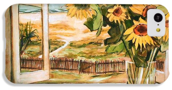 The Beach Sunflowers IPhone 5c Case by Winsome Gunning