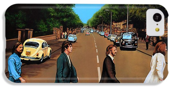 The iPhone 5c Case - The Beatles Abbey Road by Paul Meijering