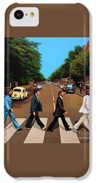 Musicians iPhone 5c Case - The Beatles Abbey Road by Paul Meijering