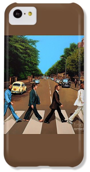 Music iPhone 5c Case - The Beatles Abbey Road by Paul Meijering
