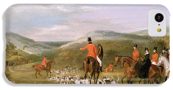 Rural Scenes iPhone 5c Case - The Berkeley Hunt by Francis Calcraft Turner
