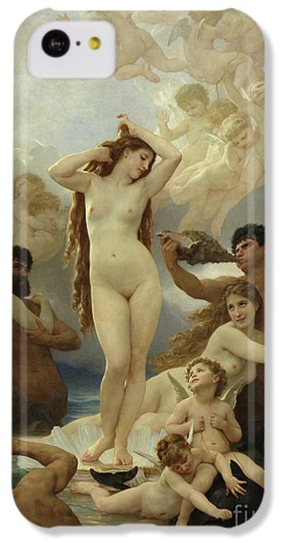 Dolphin iPhone 5c Case - The Birth Of Venus by William-Adolphe Bouguereau