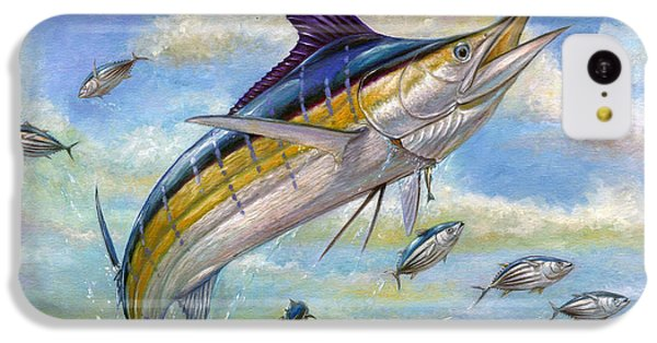Small iPhone 5c Case - The Blue Marlin Leaping To Eat by Terry  Fox