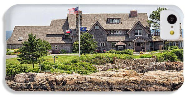 The Bush Compound Kennebunkport Maine IPhone 5c Case by Brian MacLean