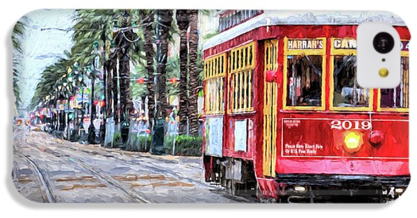 IPhone 5c Case featuring the photograph The Canal Street Streetcar by JC Findley