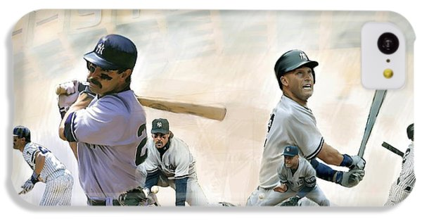 Derek Jeter iPhone 5c Case - The Captains II Don Mattingly And Derek Jeter by Iconic Images Art Gallery David Pucciarelli