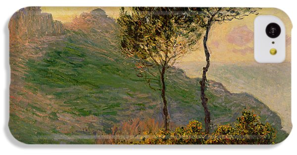 The Church At Varengeville Against The Sunlight IPhone 5c Case by Claude Monet