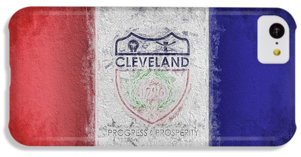IPhone 5c Case featuring the digital art The Cleveland City Flag by JC Findley
